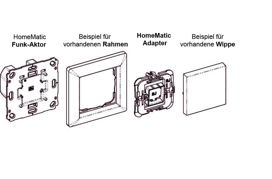 adapter f r markenschalter eq 3. Black Bedroom Furniture Sets. Home Design Ideas